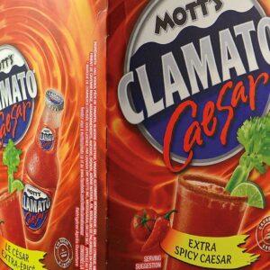 MOTT'S CLAMATO CAESAR EXTRA-SPICY 4PKB