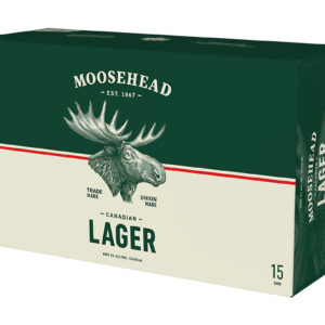 MOOSEHEAD LAGER 15CANS
