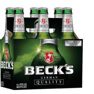 BECK'S LAGER 6X330ML BOTTLES